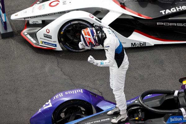 Race Winner Jake Dennis (GBR), BMW I Andretti Motorsport, BMW iFE.21 celebrates in Parc Ferme