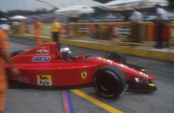 1990 San Marino Grand Prix.Imola, Italy.11-13 May 1990.Alain Prost (Ferrari 641) 4th position.Ref-90 SM 14.World Copyright - LAT Photographic