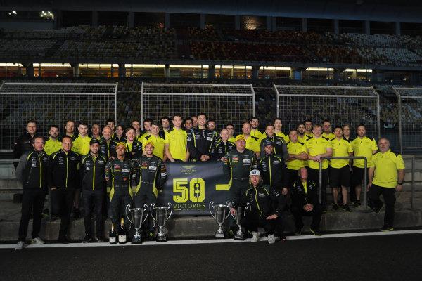 2017 FIA World Endurance Championship, Shanghai, China. 3rd-5th November 2017, Aston Martin Racing celebrate 50 wins  World Copyright. JEP/LAT Images