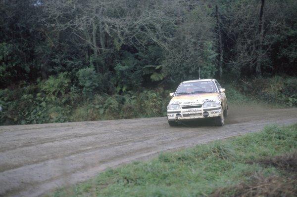 1988 World Rally Championship.New Zealand Rally, New Zealand. 9-12 July 1988.Sepp Haider/Ferdi Hinterleitner (Opel Kadett GSi 16V), 1st position.World Copyright: LAT PhotographicRef: 35mm transparency 88RALLY10