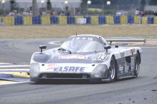 1990 Le Mans 24 Hours. Le Mans, France. 16th-17th June. James Shead/Rob Stirling/Ross Hyett (Spice SE88C-Ford Cosworth), 25th position. World Copyright: LAT Photographic. Ref: 90LM05.