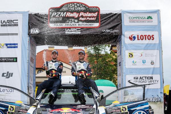 2016 FIA World Rally Championship, Round 07, Rally Poland,  June 30 - July 03, 2016 Andreas Mikkelsen, Volkswagen, podium Worldwide Copyright: McKlein/LAT