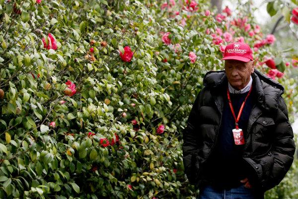 Shanghai International Circuit, Shanghai, China.  Saturday 8 April 2017. Niki Lauda, Non-Executive Chairman, Mercedes AMG. World Copyright: Coates/LAT Images ref: Digital Image GJ9R1813