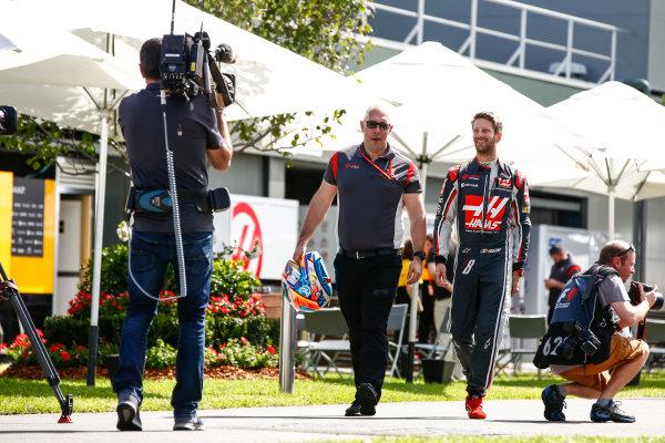 Albert Park, Melbourne, Australia. Thursday 23 March 2017. Romain Grosjean, Haas F1. World Copyright: Andy Hone/LAT Images ref: Digital Image _ONY9968