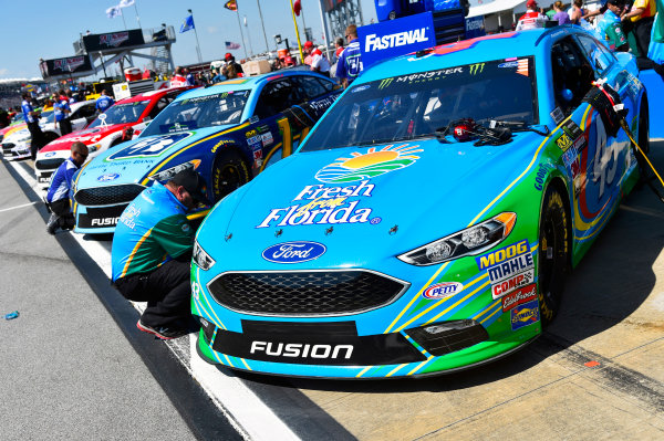 Monster Energy NASCAR Cup Series GEICO 500 Talladega Superspeedway, Talladega, AL USA Saturday 6 May 2017 Aric Almirola, Richard Petty Motorsports, Fresh From Florida Ford Fusion and Ricky Stenhouse Jr, Roush Fenway Racing, Fifth Third Bank Ford Fusion World Copyright: Nigel Kinrade LAT Images ref: Digital Image 17TAL1nk02653