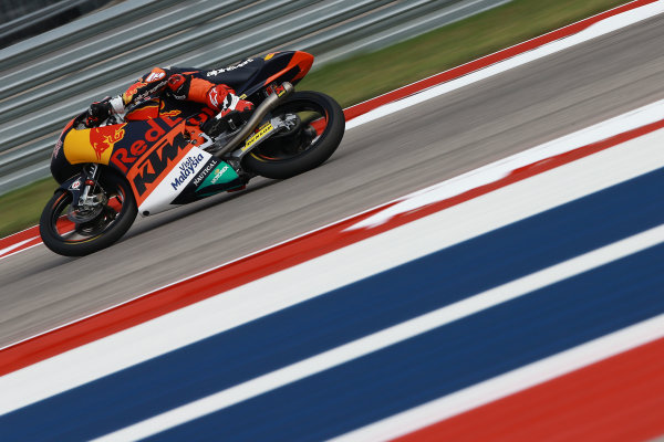 2017 Moto3 Championship - Round 3 Circuit of the Americas, Austin, Texas, USA Friday 21 April 2017 Niccolo Antonelli, Red Bull KTM Ajo World Copyright: Gold and Goose Photography/LAT Images ref: Digital Image Moto3-500-1510