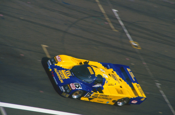 Le Mans, France. 20th - 21st June 1990.Harald Huysman/Massimo Sigala/Bernard Santal (Porsche 962C), 10th position, action. World Copyright: LAT Photographic.Ref:  90LM12.