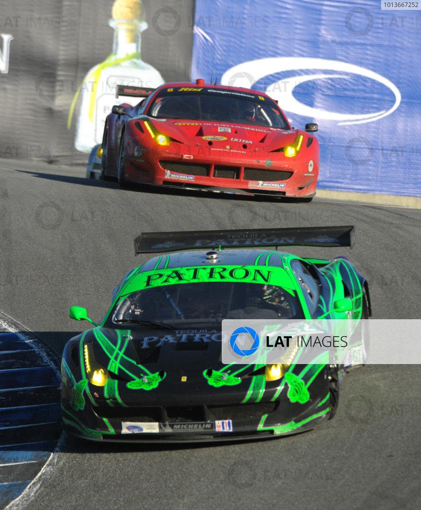 16-18 September, 2011, Monterey, California USA#02 Extreme Speed Motorsports Ferrari F458 Italia and #62 Ferrari(c)2011,  Dan R. Boyd  LAT Photo USA