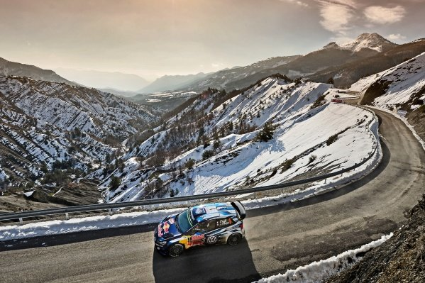 www.sutton-images.com - Sebastien Ogier (FRA) / Julien Ingrassia (FRA), Volkswagen Polo R WRC at the FIA World Rally Championship, Rd1, Rally Monte Carlo, Day Two, Monte Carlo, 24 January 2015.  Photo Sutton Images +44 1327 352188