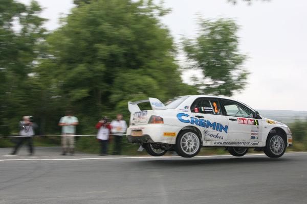 Manx International Rally, Isle of Man 10th-11th July,Keith Cronin/Greg Shinnors Mitsubishi Lancer Evo 9World Copyright: Jakob Ebrey/LAT Photographic