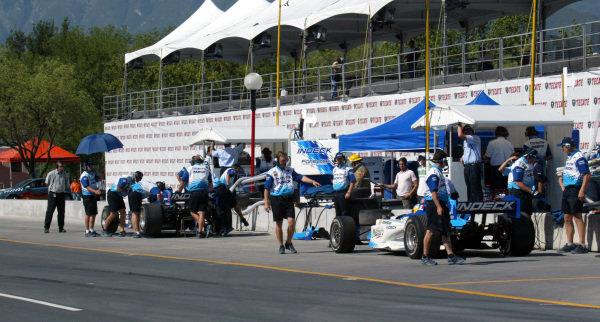 The Monterrey pit lane. Champ Car World Series, Rd3, Tecate Grand Prix, Fundidora Park, Monterrey, Mexico, 19-21 May 2006. DIGITAL IMAGE