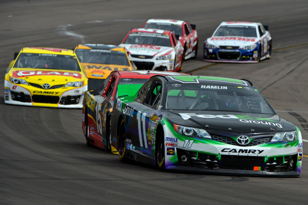 March 1-3, 2013 Avondale, Arizona USA Denny Hamlin, FedEx Ground Toyota Camry pack.(c) 2013, Brian Czobat LAT Photo USA .