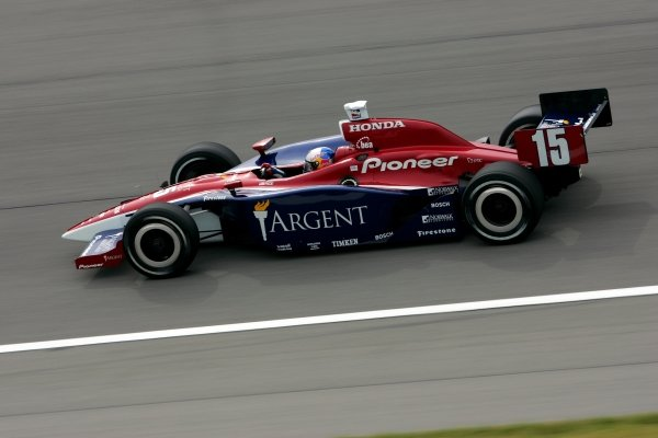 Buddy Rice (USA), Rahal Letterman Racing Panoz Honda, qualified second for the Argent Mortgage Indy 300. He finished tenth.