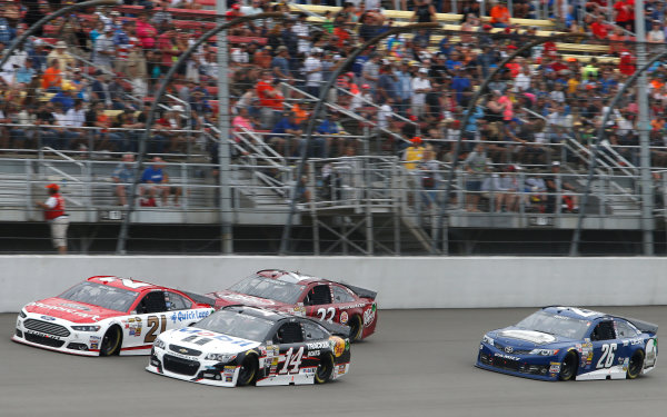 15-17 August, 2014, Brooklyn, Michigan USA Trevor Bayne, Jeff Burton, Alex Bowman, Cole Whitt ?2014, Brett Moist LAT Photo USA