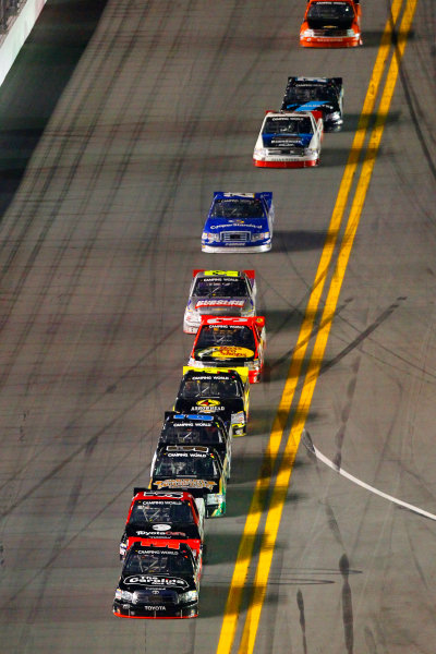 21-22 February, 2013, Daytona Beach, Florida USA Johnny Sauter and Kyle Busch.(c)2013, Russell LaBounty LAT Photo USA .