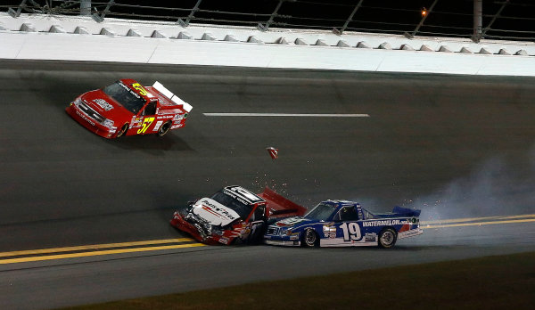 21-23 February, 2013, Daytona Beach, Florida, USA Subject:  Ryan Truex Timothy Peters crash.(c) 2013, Michael L. Levitt LAT Photo USA