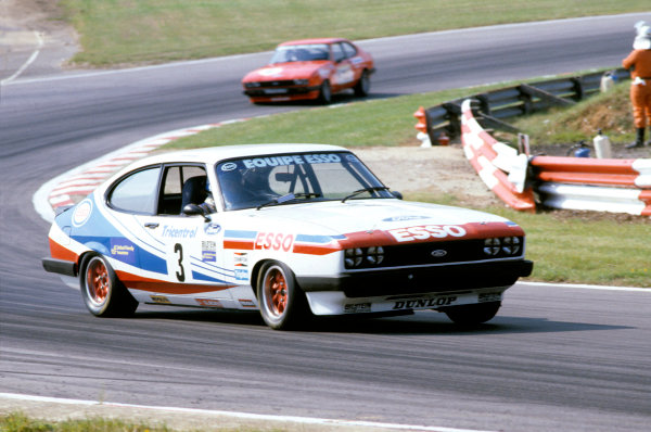 Brands Hatch, England. 16th - 18th July 1982. Rd 8. Vince Woodman (Ford Capri III 3.0S), 4th position, action.  World Copyright: LAT Photograhic. Ref: Colour Transparency.