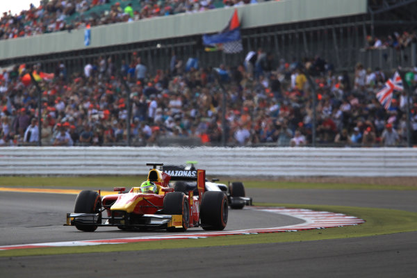 2013 GP2 Series. Round 5. Silverstone, Northamptonshire, England. 30th June. Sunday Race. Julian Leal (COL, Racing Engineering). Action.  World Copyright: Jakob Ebrey/GP2 Series Media Service. Ref: JE2_4145