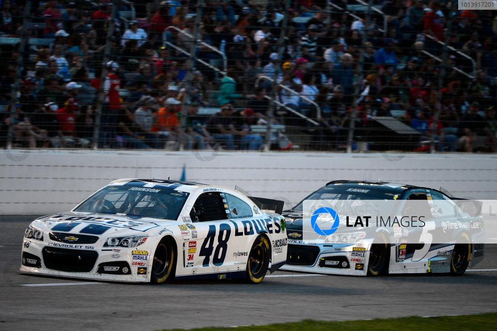 April 11-13, 2013 Fort Worth, Texas USA Jimmie Johnson and Kasey Kahne cars © 2013, Brian Czobat LAT Photo USA .