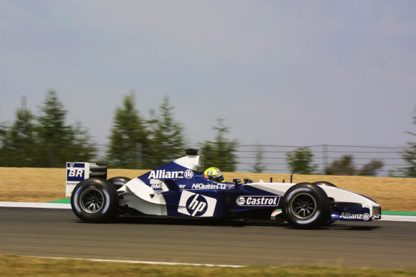2003 European Grand Prix - Friday 1st Qualifying,Nurburgring, Germany.27thth June 2003.Ralf Schumacher, BMW Williams FW25, actionWorld Copyright LAT Photographic.Digital Image Only.