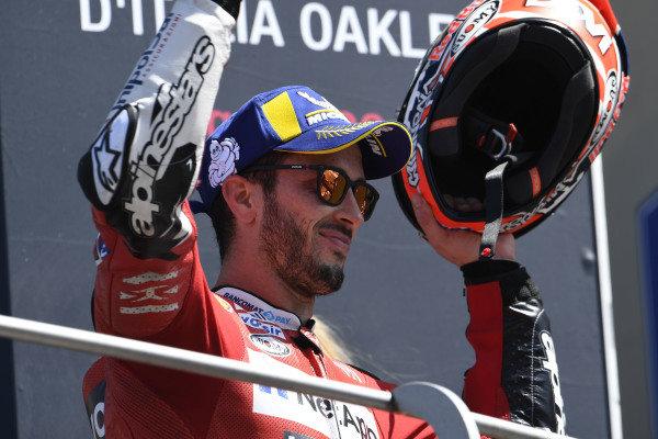 Podium: third place Andrea Dovizioso, Ducati Team.