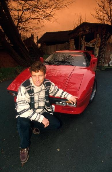 Eddie Irvine (GBR) with one of his road going FerrariÕs. Formula One Drivers at Home Feature.Catalogue Ref.: 15-170