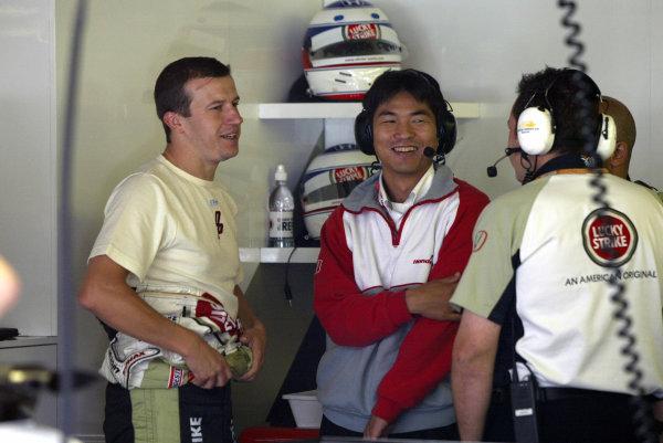 2002 Belgian Grand Prix - PracticeSpa-Francorchamps, Belgium. 30th August 2002.Olivier Panis (B.A R. Honda).World Copyright: Steve Etherington/LATref: Digital Image Only