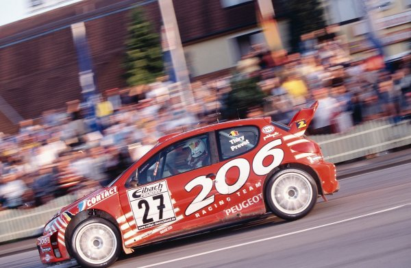 2002 World Rally Championship.ADAC Rallye Deutschland, Trier, Germany. August 22nd - 25th 2002.Bruno Thiry/Stephane prevot (Peugeot 206 WRC), action.Photo: McKlein/LAT Photographicref: 35mm Image A08