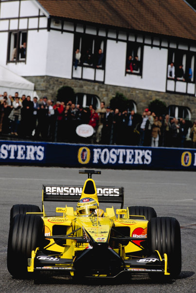 2001 Belgian Grand Prix.Spa-Francorchamps, Belgium. 31/8-2/9 2001.Jean Alesi (Jordan EJ11 Honda).Ref-02 BEL 25.World Copyright - Lorenzo Bellanca/LAT Photographic