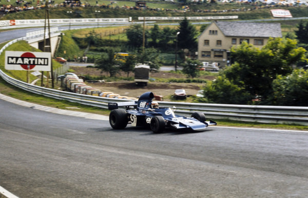 Jackie Stewart, Tyrrell 005 Ford in the spare car.