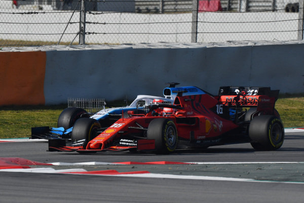 Robert Kubica, Williams FW42 and Charles Leclerc, Ferrari SF90