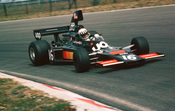 1975 Dutch Grand Prix.Zandvoort, Holland.20-22 June 1975.Tom Pryce (Shadow DN5A Ford) 6th position.World Copyright - LAT Photographic