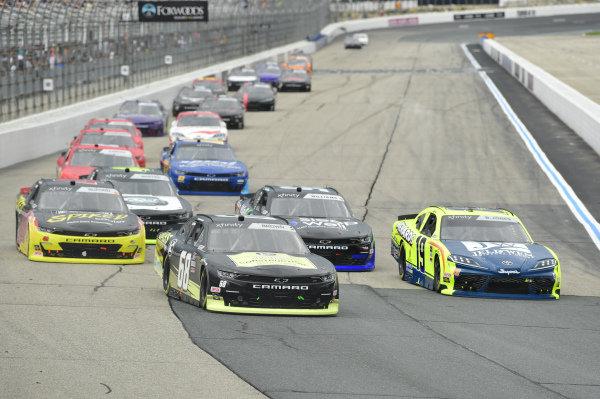 #68: Brandon Brown, Brandonbilt Motorsports, Chevrolet Camaro Jabs Construction, #19: Brandon Jones, Joe Gibbs Racing, Toyota Supra Menards/Jeld-Wen