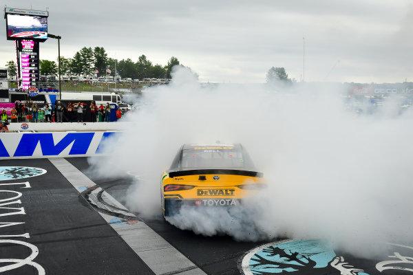 #54: Christopher Bell, Joe Gibbs Racing, Toyota Supra DEWALT celebrates after winning