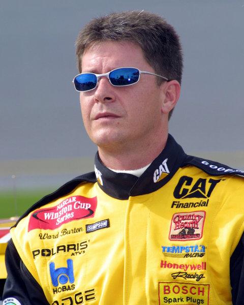 2002 NASCAR Cup TestingDaytona, Florida, USA. 7th January 2002.Ward Burton, portrait.World Copyright: Greg Aleck/LAT Photographicref: Digital Image Only