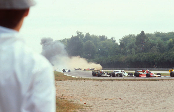 1978 Italian Grand Prix.Monza, Italy.8-10 September 1978.The first lap multiple accident which claimed the life of Ronnie Peterson (Lotus 78 Ford) at the start.Ref-78 ITA 18.World Copyright - LAT Photographic