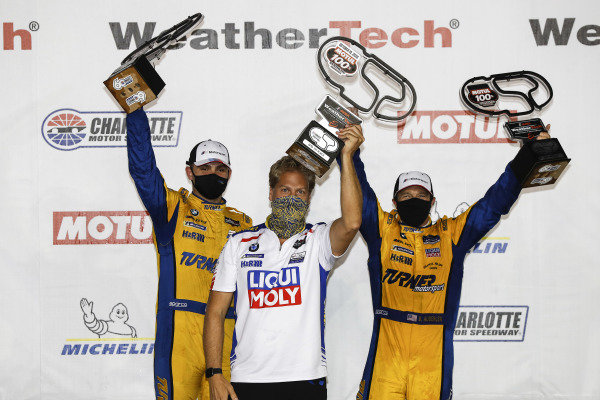 #96 Turner Motorsport BMW M6 GT3, GTD: Robby Foley III, Bill Auberlen, podium, Will Turner