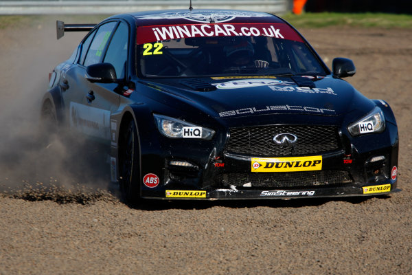 2015 British Touring Car Championship, Rockingham, Corby, England. 5th-6th September 2015, Derek Palmer (GBR) Support Our Paras Racing Infiniti Q50 World Copyright. Jakob Ebrey/LAT Photographic