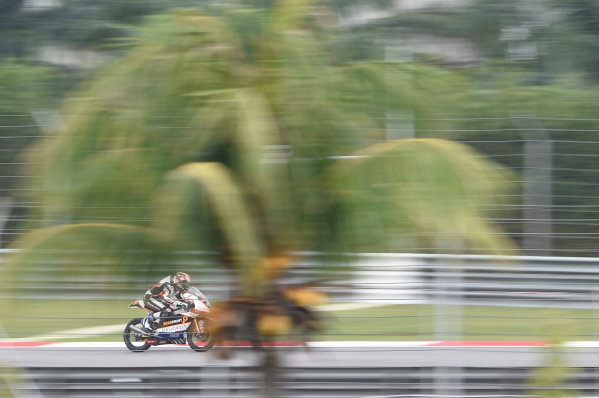 2017 Moto3 Championship - Round 17 Sepang, Malaysia. Friday 27 October 2017 Patrik Pulkkinen, Peugeot MC Saxoprint World Copyright: Gold and Goose / LAT Images ref: Digital Image 25077