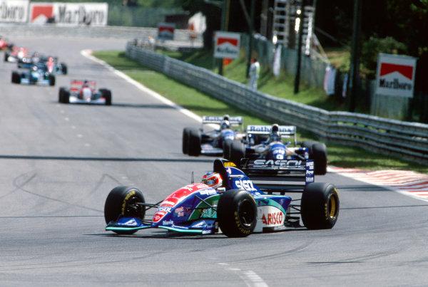 1994 Belgian Grand Prix. Spa-Francorchamps, Belgium. 26th - 28th August 1994. Rubens Barrichello (Jordan 194-Hart), retired, action.  World Copyright: LAT Photographic. Ref: Colour Transparency.