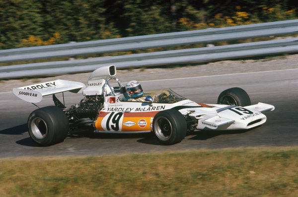 1972 Canadian Grand Prix.  Mosport, Canada. 22-24th September 1972.  Peter Revson, McLaren M19C Ford.  Ref: 72CAN23. World Copyright: LAT Photographic