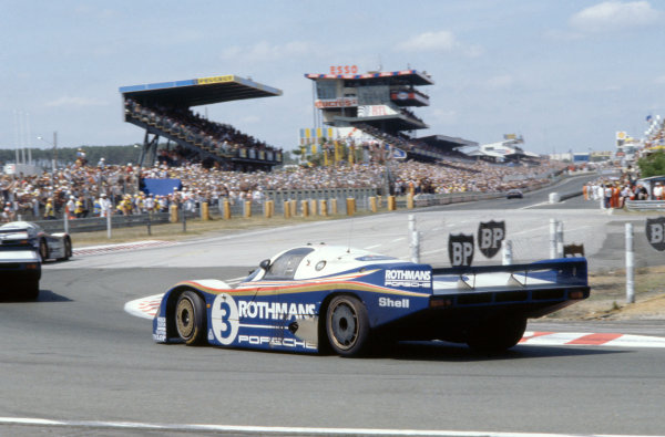1982 Le Mans 24 hours. Le Mans, France. 19-20 June 1982. Hurley Haywood/Al Holbert/Jurgen Barth (Porsche 956), 3rd position. World Copyright: LAT Photographic. Ref: 82LM11.