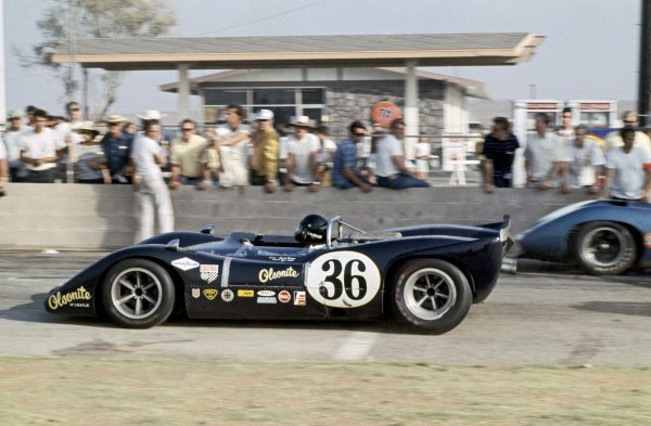 1968 Can-Am Challenge Cup.CanAm race. Riverside, California, United States (USA). 27 October 1968.Swede Savage (McLeagle-Ford), 8th position. A modified McLaren/Eagle.World Copyright: LAT PhotographicRef: 35mm transparency 68CANAM01
