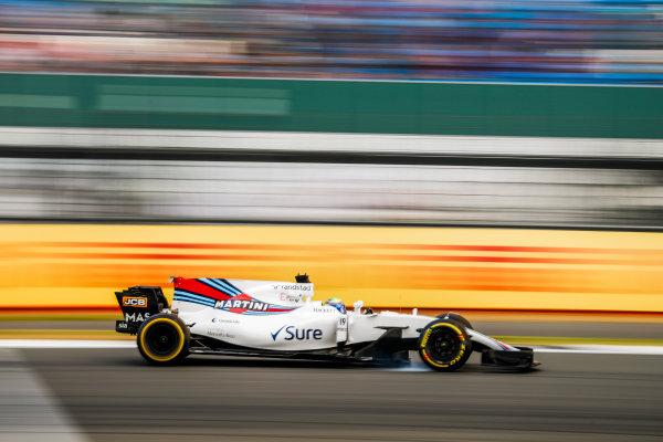 Silverstone, Northamptonshire, UK.  Friday 14 July 2017. Felipe Massa, Williams FW40 Mercedes. World Copyright: Glenn Dunbar/LAT Images  ref: Digital Image _31I3460