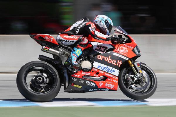 2017 Superbike World Championship - Round 8 Laguna Seca, USA. Friday 7 July 2017 Marco Melandri, Ducati Team World Copyright: Gold and Goose/LAT Images ref: Digital Image 683121