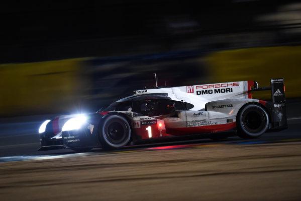 2017 Le Mans 24 Hours Circuit de la Sarthe, Le Mans, France. Saturday 17 June 2017 #1 Porsche Team Porsche 919 Hybrid: Neel Jani, Andre Lotterer, Nick Tandy World Copyright: Rainier Ehrhardt/LAT Images ref: Digital Image DSC_0334