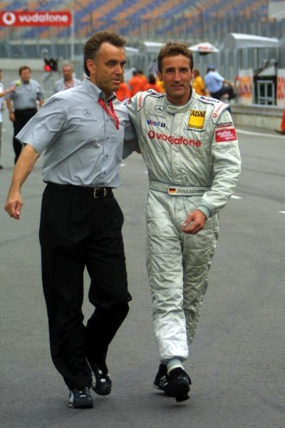 Bernd Schneider (GER) AMG Mercedes took race victory.DTM Championship, Rd6, Lausitzring, Germany. 14 July 2002.DIGITAL IMAGE
