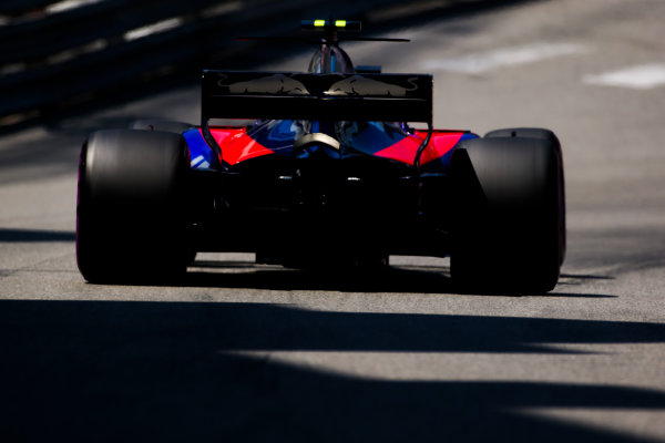 Monte Carlo, Monaco. Saturday 27 May 2017. Carlos Sainz Jr, Toro Rosso STR12 Renault. World Copyright: Charles Coates/LAT Images ref: Digital Image AN7T7244