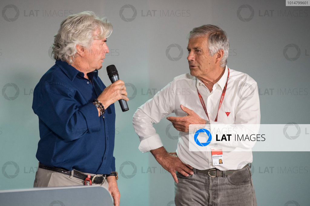 2017 MotoGP Championsip - Round 4 Jerez, Spain Thursday 4 May 2017 Giacomo Agostini, Angel Nieto World Copyright: Gold & Goose Photography/LAT Images ref: Digital Image 667660