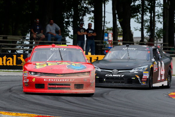 NASCAR XFINITY Series Johnsonville 180 Road America, Elkhart Lake, WI USA Sunday 27 August 2017 Ross Chastain, teamjdmotorsports.com Chevrolet Camaro and JJ Yeley, TriStar Motorsports Toyota Camry World Copyright: Russell LaBounty LAT Images
